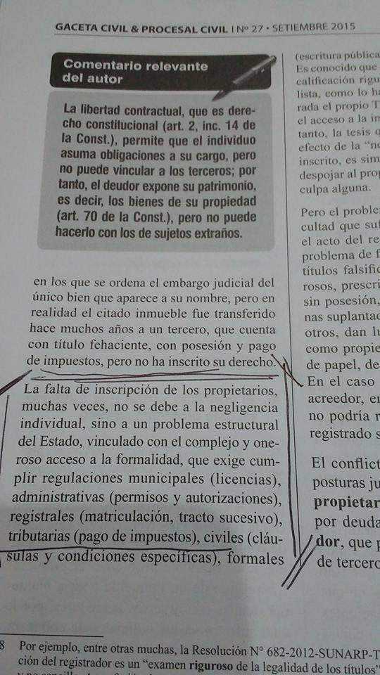 Texto publicado en la revista Gaceta Civil.