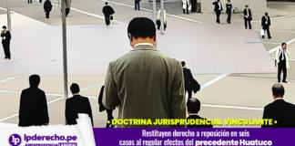 Casación laboral 12475-2014, Moquegua con logo de jurisprudencia laboral y LP