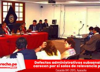 Casación 841-2015, Ayacucho con logo de jurisprudencia penal y LP