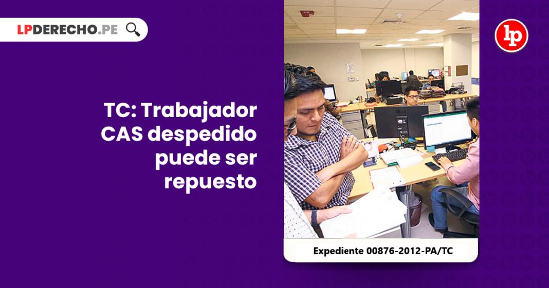 TC Trabajador CAS despedido puede ser repuesto - LP