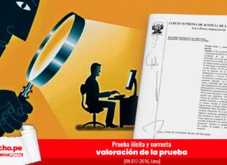 Prueba ilícita y correcta valoración de la prueba - RN 817-2016, Lima