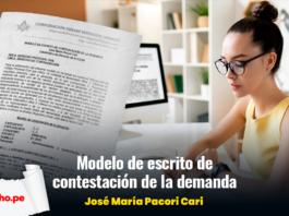 Modelo de escrito de contestación de la demanda