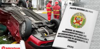 Manual-de-normas-y-procedimientos-para-la-intervencion-e-investigacion-de-accidentes-de-transito 2020 con logo de LP