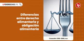 Diferencias entre derecho alimentario y obligación alimentaria