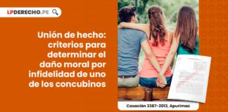 union de hecho-criterios para determinar el daño morañ por infidelidad de uno de los concubinos-LP