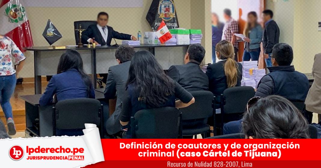 Recurso de Nulidad 828-2007, Lima con logo de jurisprudencia penal y LP