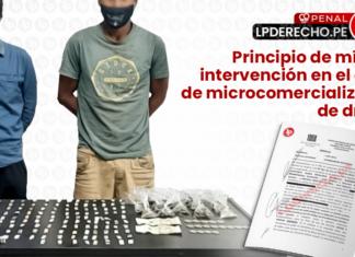 Principio de minima en el delito de microcomercializacion de drogas - penal - juris - LP