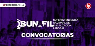 Sunafil convocatorias con logo de LP