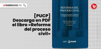 [PUCP] Descarga en PDF el libro «Reforma del proceso civil» con logo de LP