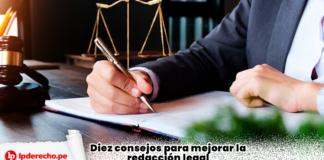 Diez consejos para mejorar la redacción legal con logo de LP