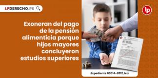 Exoneran del pago de la pensión alimenticia porque hijos mayores concluyeron estudios superiores