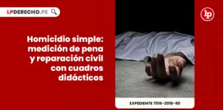 Homicidio simple: medición de pena y reparación civil con cuadros didácticos