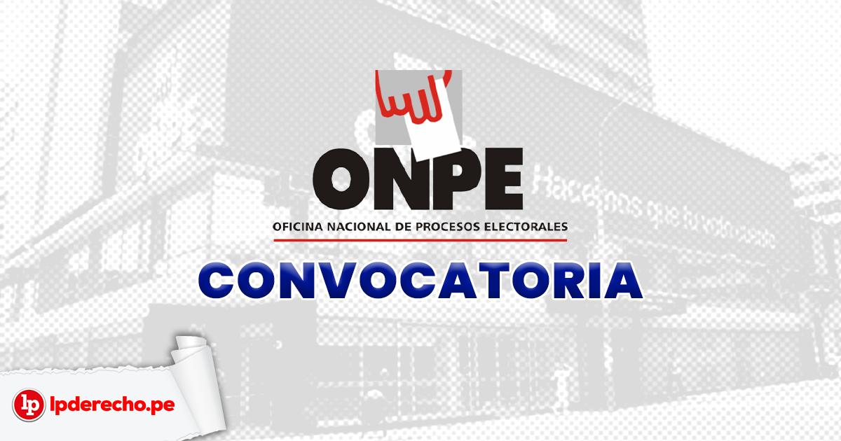 Onpe Lanza Convocatoria Para Cubrir 12 854 Plazas Para Estudiantes Universitarios O Tecnicos Lp