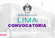 Municipalidad de Lima convocatoria con logo de LP