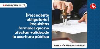 Resolucion 028-2019-Sunarp-PT - LPDerecho