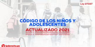 Codigo de los Niños y Adolescentes - Ley 27337 - LP- niños corriendo