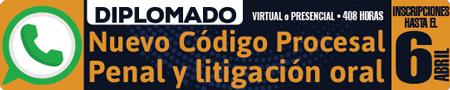 Solicito información del diplomado «Nuevo Código Procesal Penal y litigación oral»
