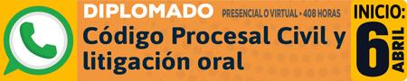 Diplomado «Código Procesal Civil y litigación oral»