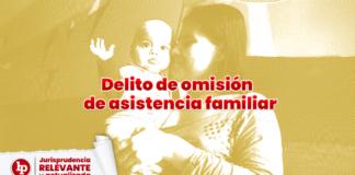delito de omisión de asistencia familiar con logo de LP
