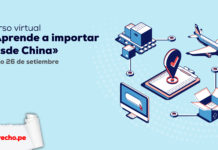 Curso virtual Aprenden a importar desde China inicio 26 de setiembre con logo de Lpderecho