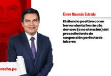 Elmer Huamán Estrada silencio positivo