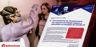 trabajo seguridad salud OIT publica guía de 10 pasos para lograr un retorno seguro y saludable al trabajo