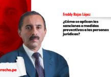 ¿Cómo se aplican las sanciones o medidas preventivas a las personas jurídicas?