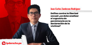 sexual persistencia declaración víctima
