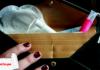 Productos menstruales con logo de LP