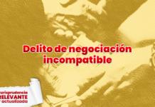 Jurisprudencia sobre delito de negociación incompatible con logo LP