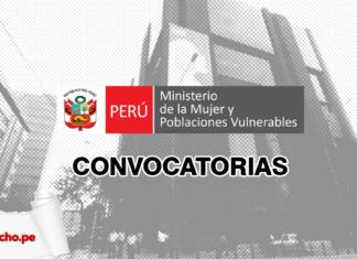 Convocatorias del Ministerio de la Mujer con logo de LP