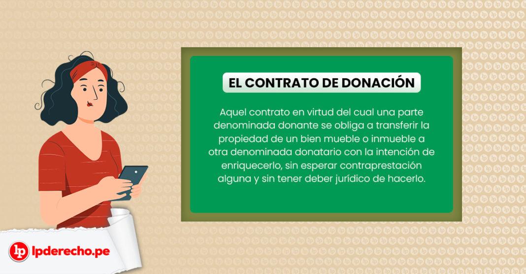 definición del contrato de donación