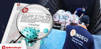 norma legal indeci ayuda humanitaria con logo LP