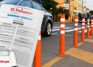 Vehículos infraestructura vial con logo de LPderecho y El Peruano