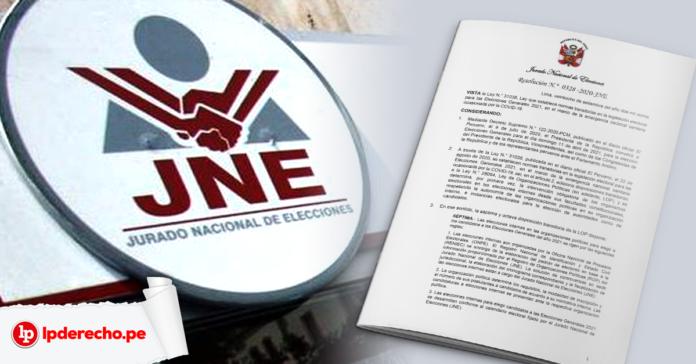 fachada jurado nacional de elecciones con resolución y logo LP