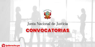 JNJ convocatoria con logo de Lpderecho