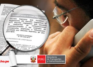 Decreto Supremo 020-2020-MTC El Peruano