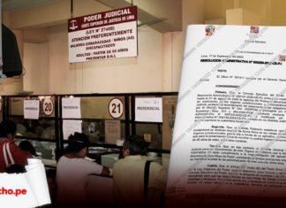 Taquilla atencion a personas poder judicial con carilla de resolucion y logo LP