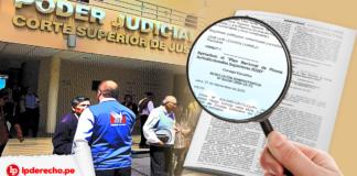 personas Corte Superior Justicia con resolución y logo lp