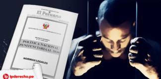 Política nacional penitenciarial 2030 con logo LPderecho y Minjus