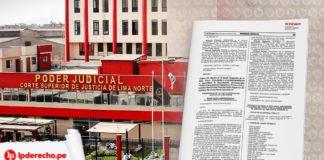Resolución Administrativa 000621-2020-P-CSJLIMANORTE-PJ con logo de LP