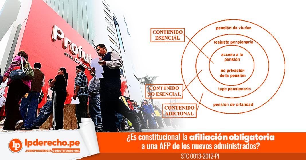 Expediente 0013-2012-PI con esquema y logo de una AFP y LP