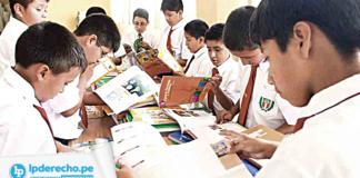 niños estudiando con logo LP
