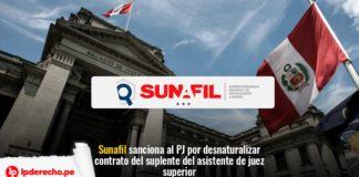 poder judicial sancionado por sunafil