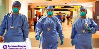 personal de salud en hospital con logo de LP