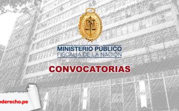 Convocatorias del Ministerio Público con logo de LP