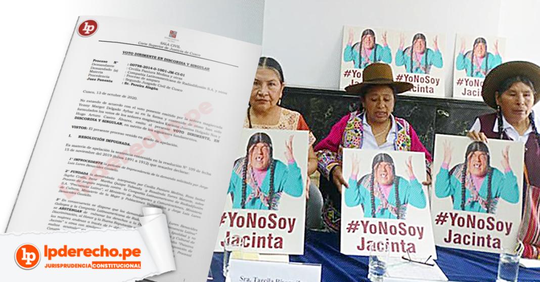 Paisana Jacinta con logo de jurisprudencia constitucional y LP