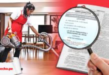 trabajadora hogar Ley 31047 con logo lp