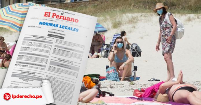Uso de playas con logo de norma legal El Peruano y LP