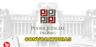 Poder Judicial convocatorias con logo de LP